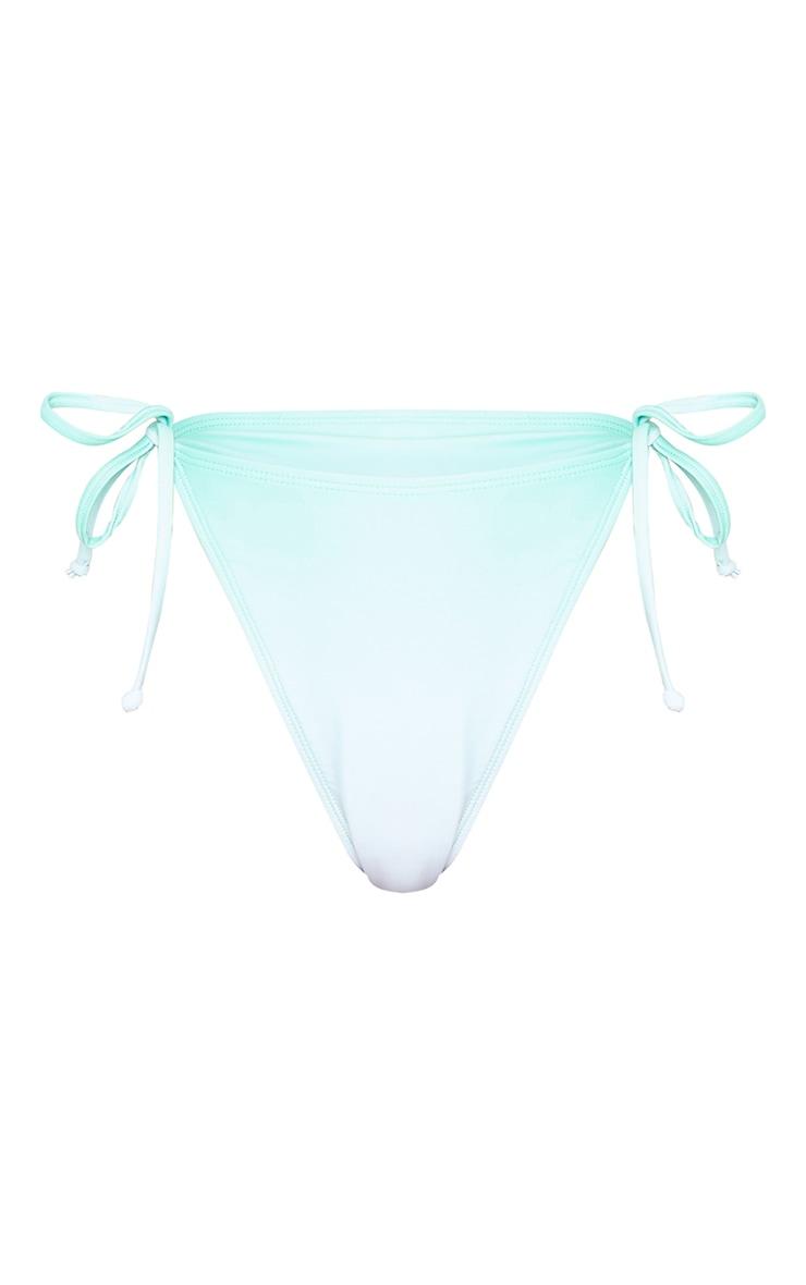 Green Ombre Tie Side Bikini Bottoms 5
