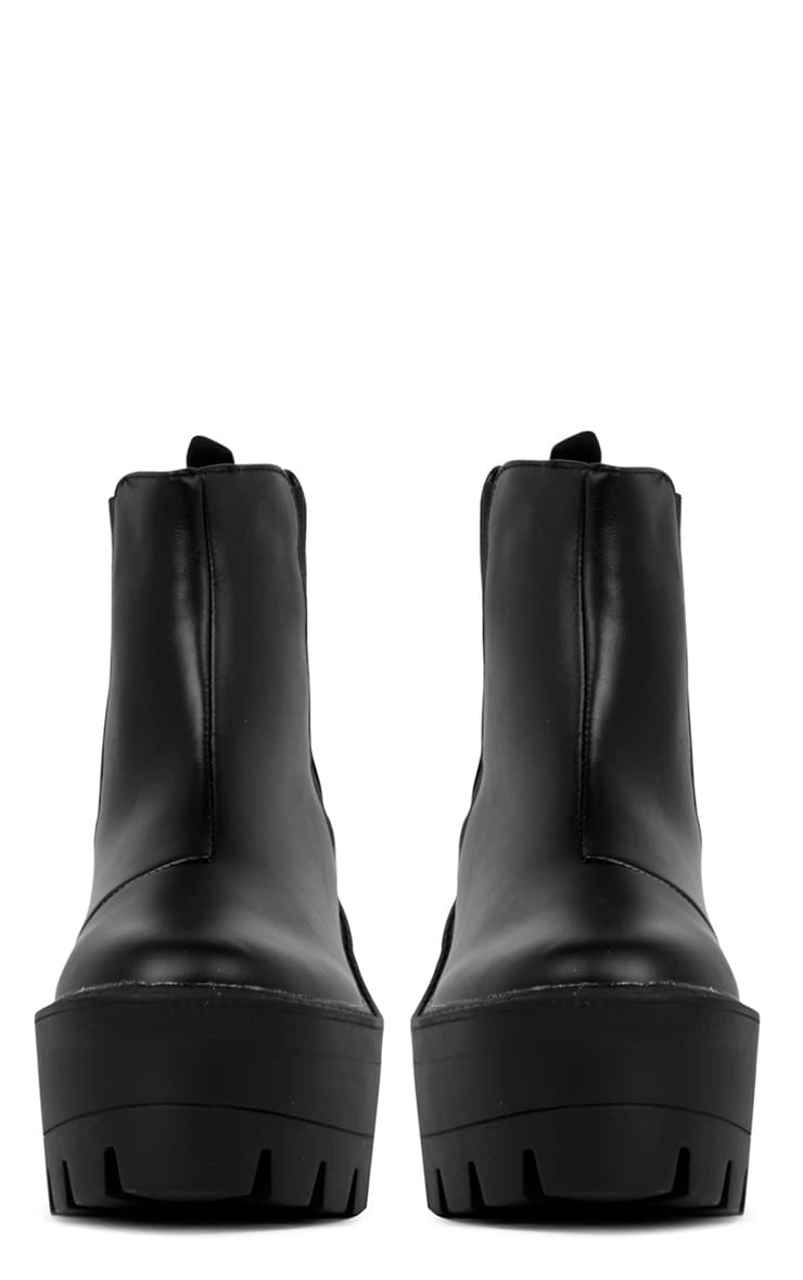 Coco Black Leather Chunky Chelsea Boot  4