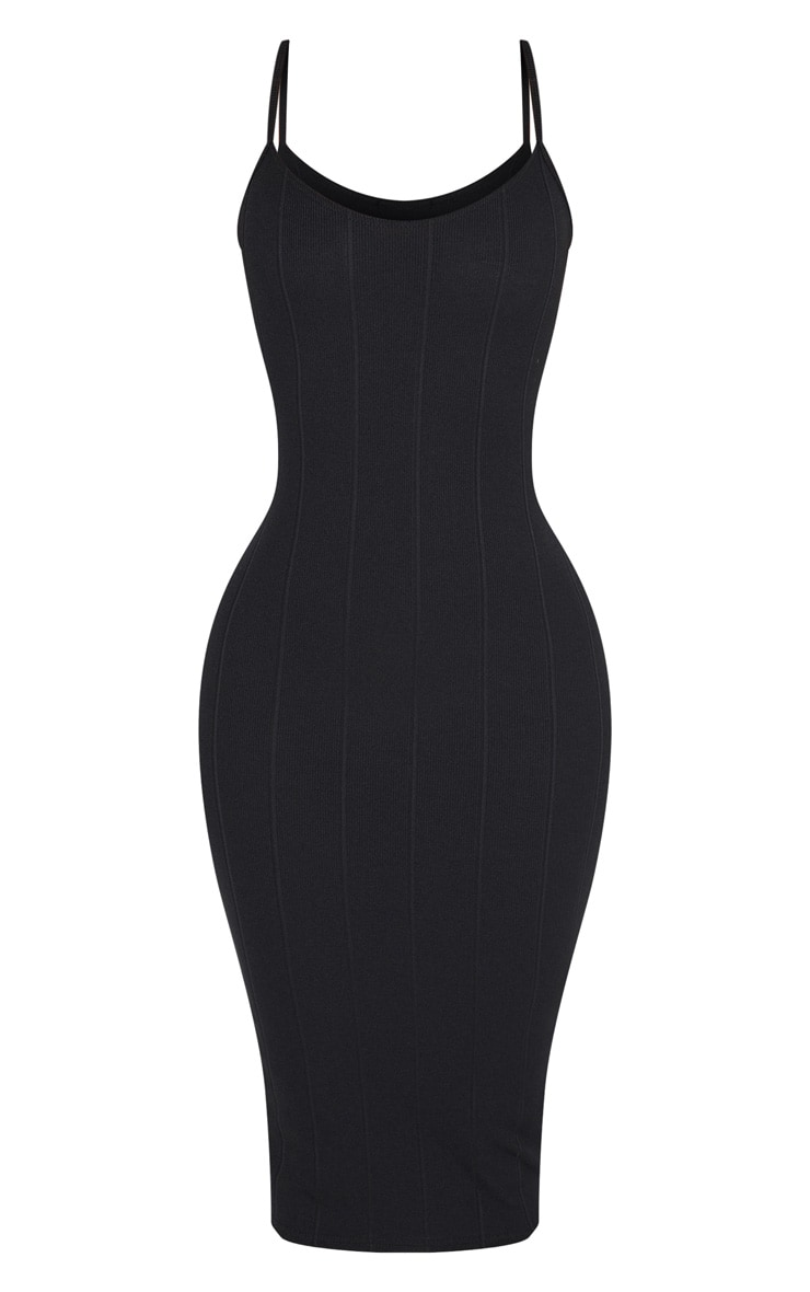 Shape Black Bandage Midi Dress 3
