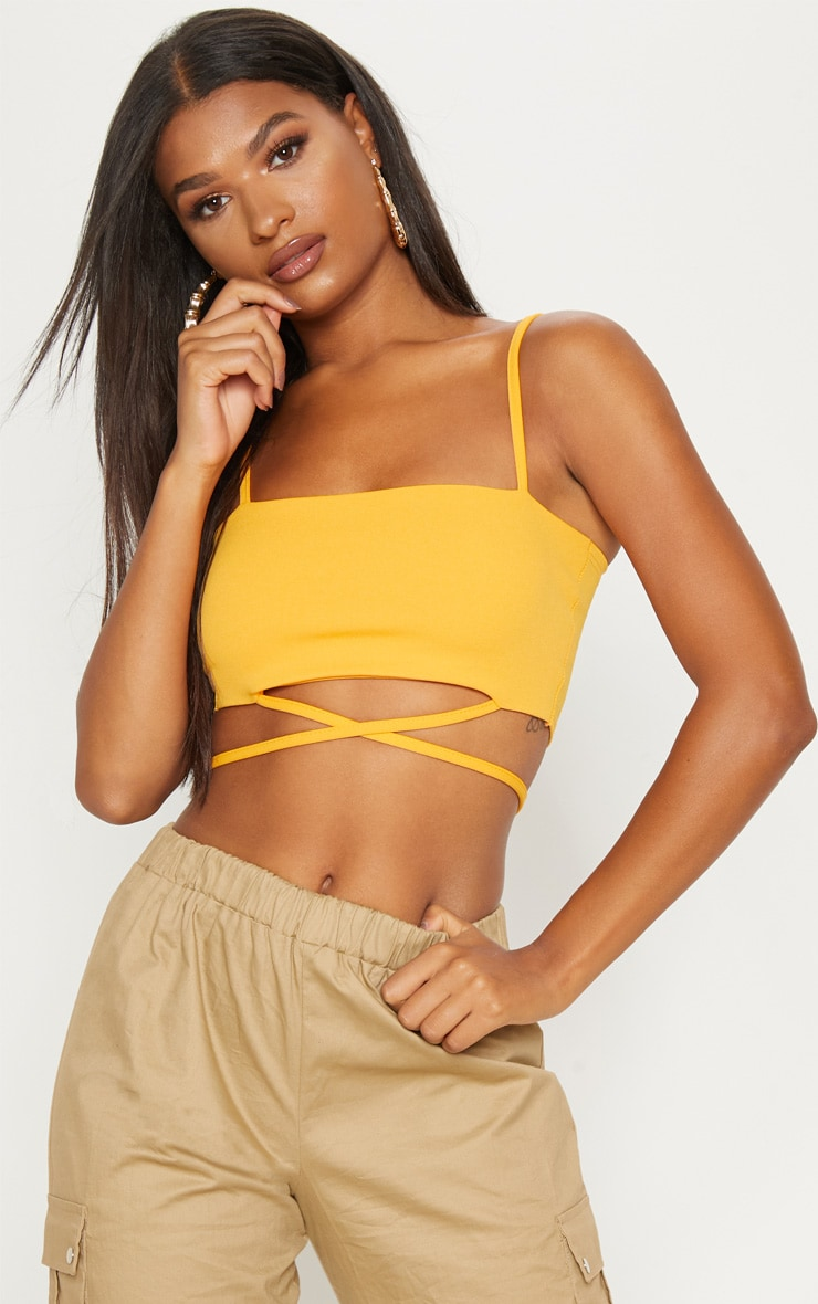 Orange Strap Crop Top 3