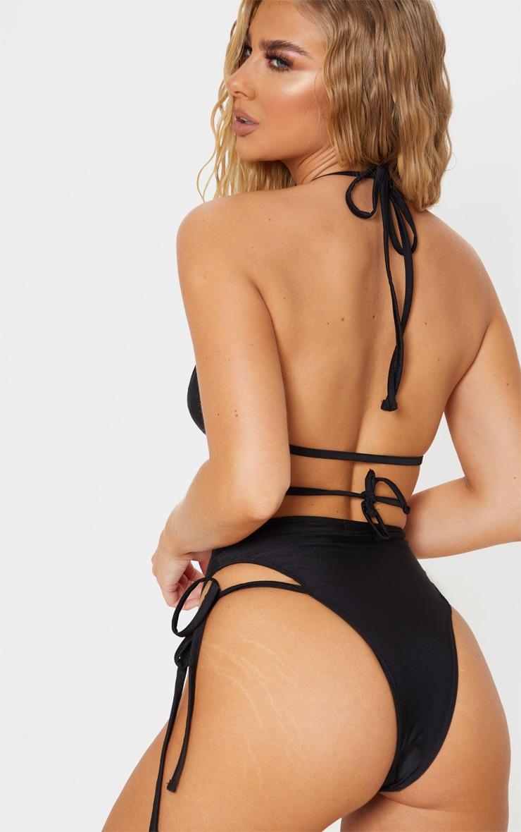 Black Wrap Strap Bikini Top 2