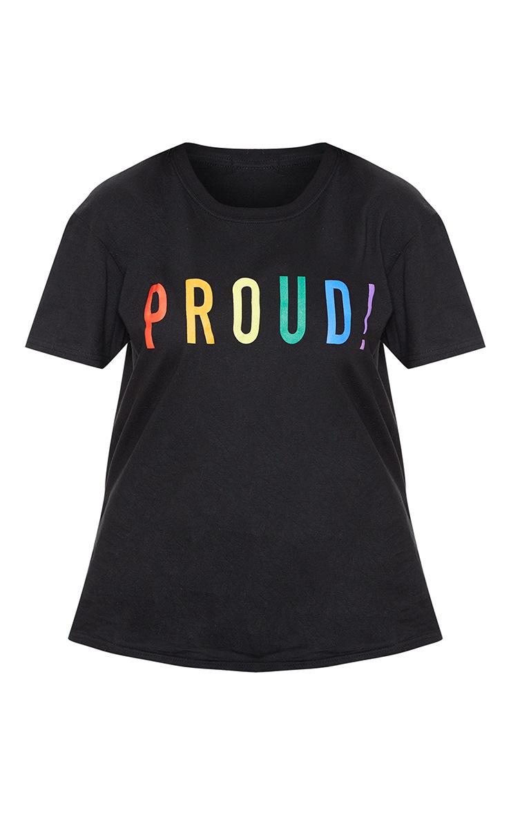 UNISEX Black PROUD Oversized T-shirt 4