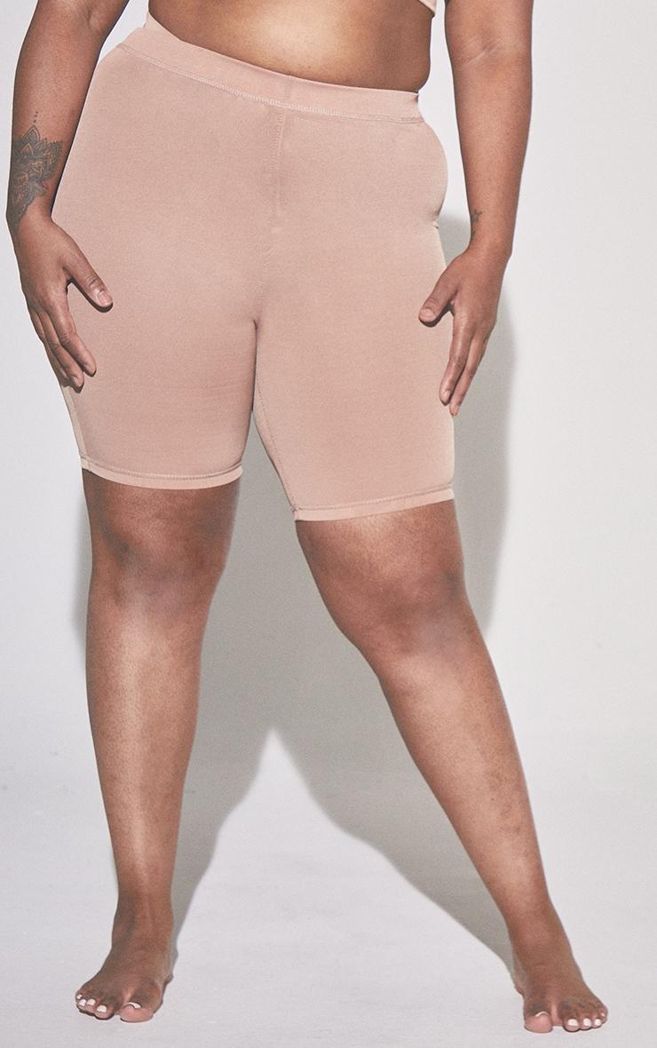 PLT Plus Seconde Peau - Short de lingerie en mesh argile à taille haute 2