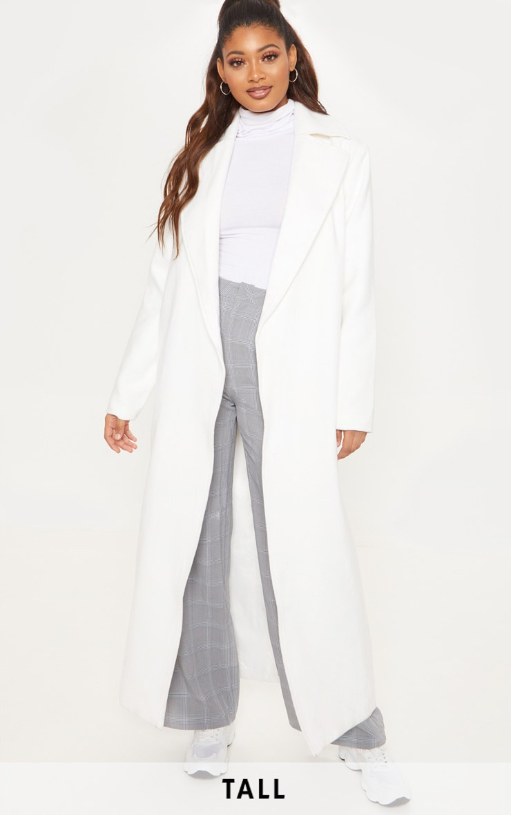 Tall Cream Belted Coat  1