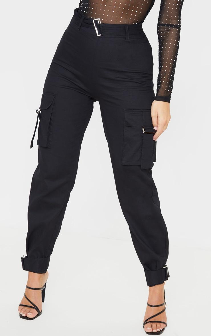 Black Cargo Trousers 2