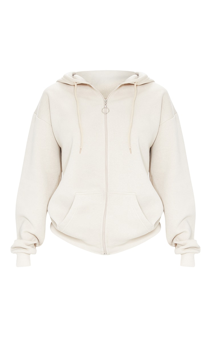 Tall Stone Extreme Oversized Pocket Front Zip Through Hoodie 5