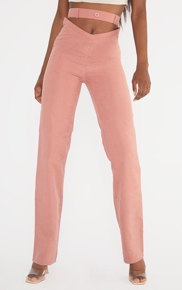 Tall Mauve Cut Out Waist Pants 2