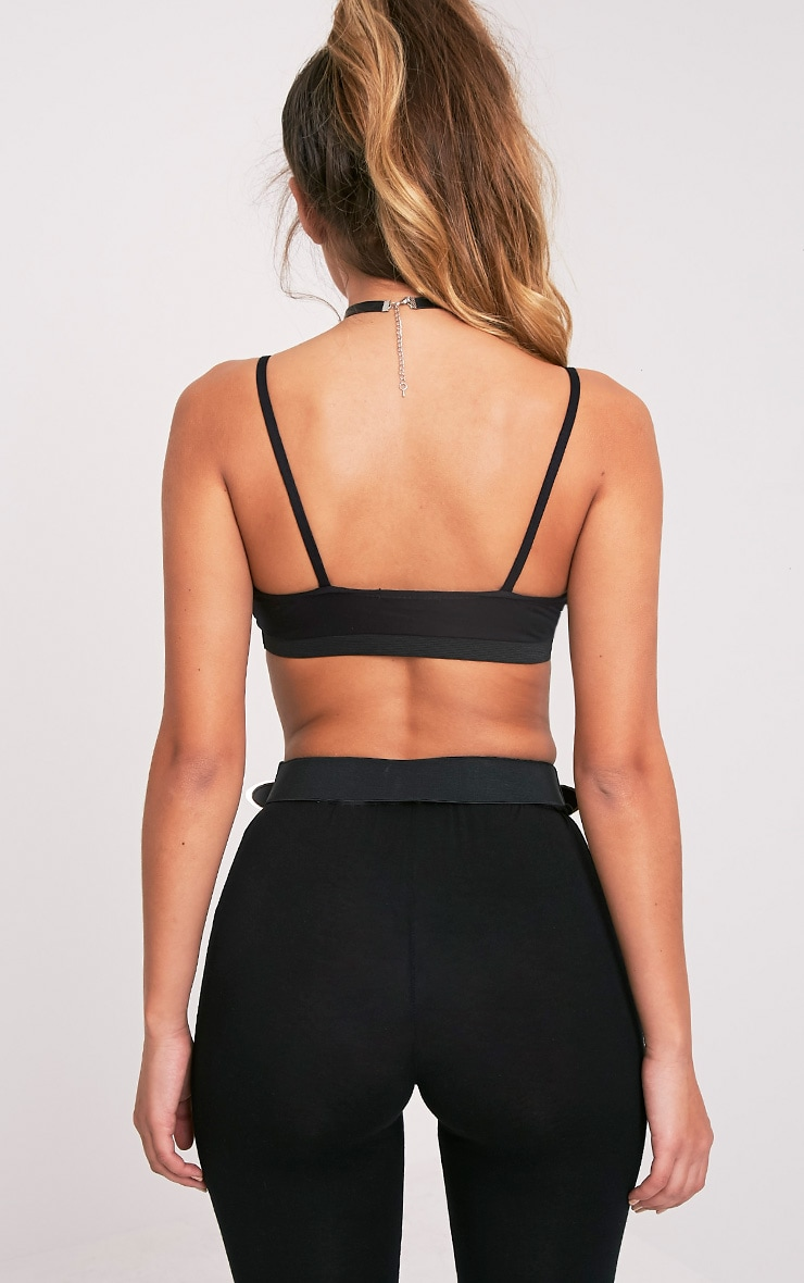 Rhoda Black Triangle Strap Detail Bralet 2