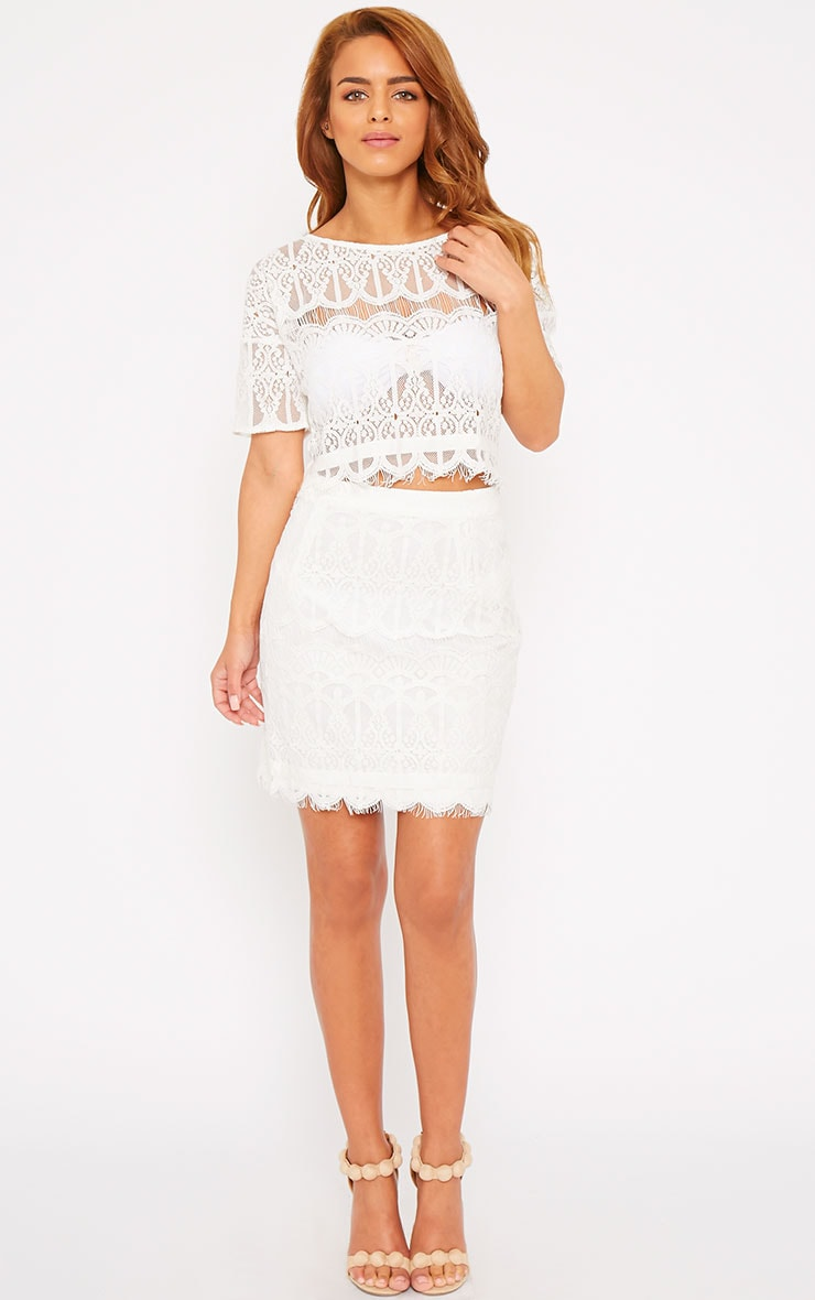 Linnea Cream Lace Skirt 6