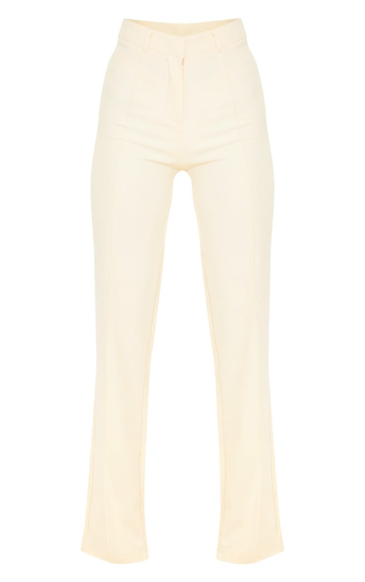 Anala Champagne High Waisted Straight Leg Trousers 3