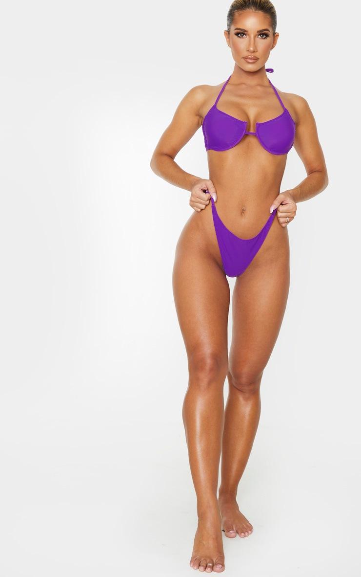 Purple Tanga Bikini Bottom 5