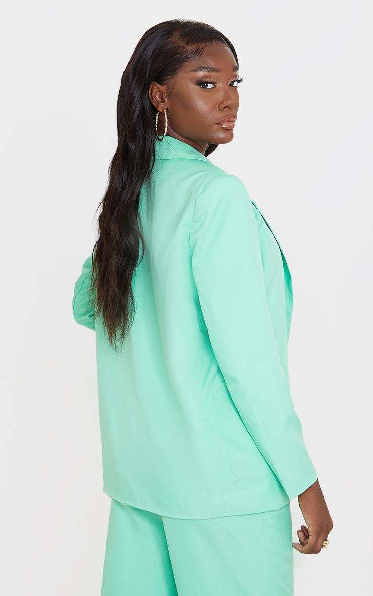 Tall Green Oversized Suit Blazer 2
