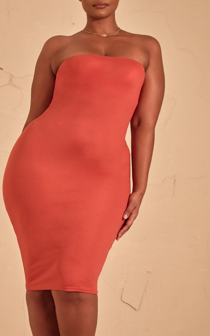 Plus Auburn Bandeau Midi Dress  5