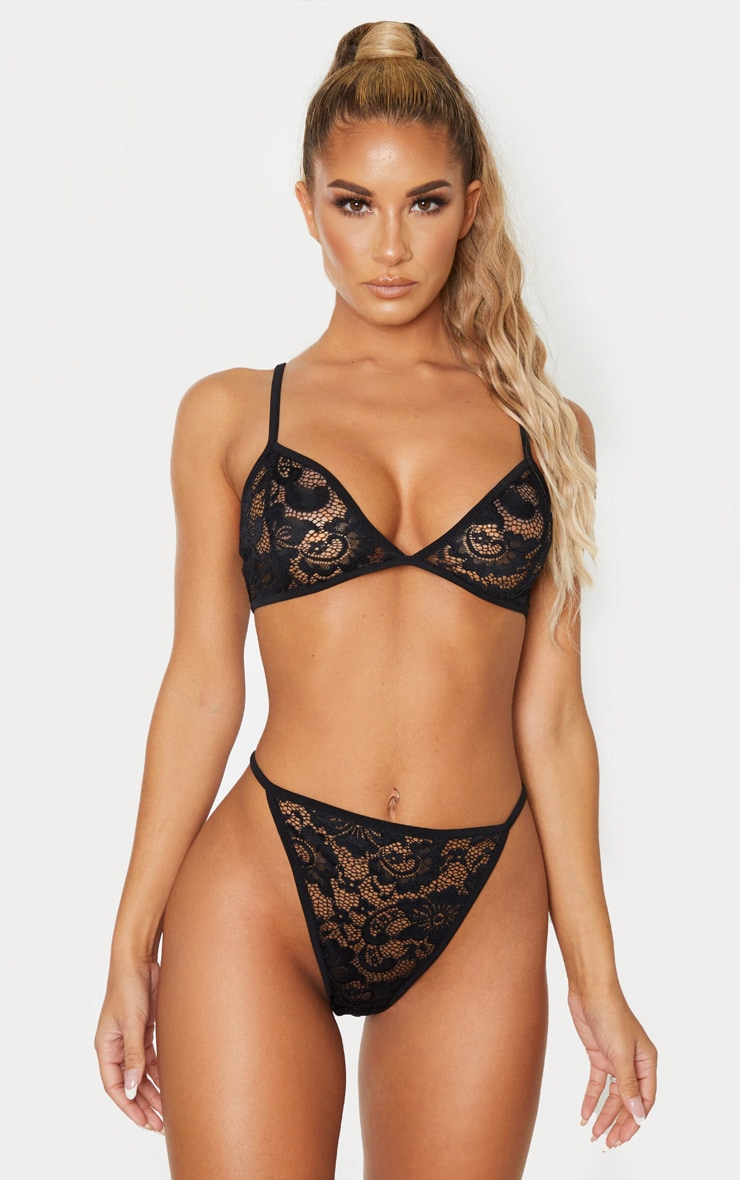 Basic Black Lace Lingerie Set 1