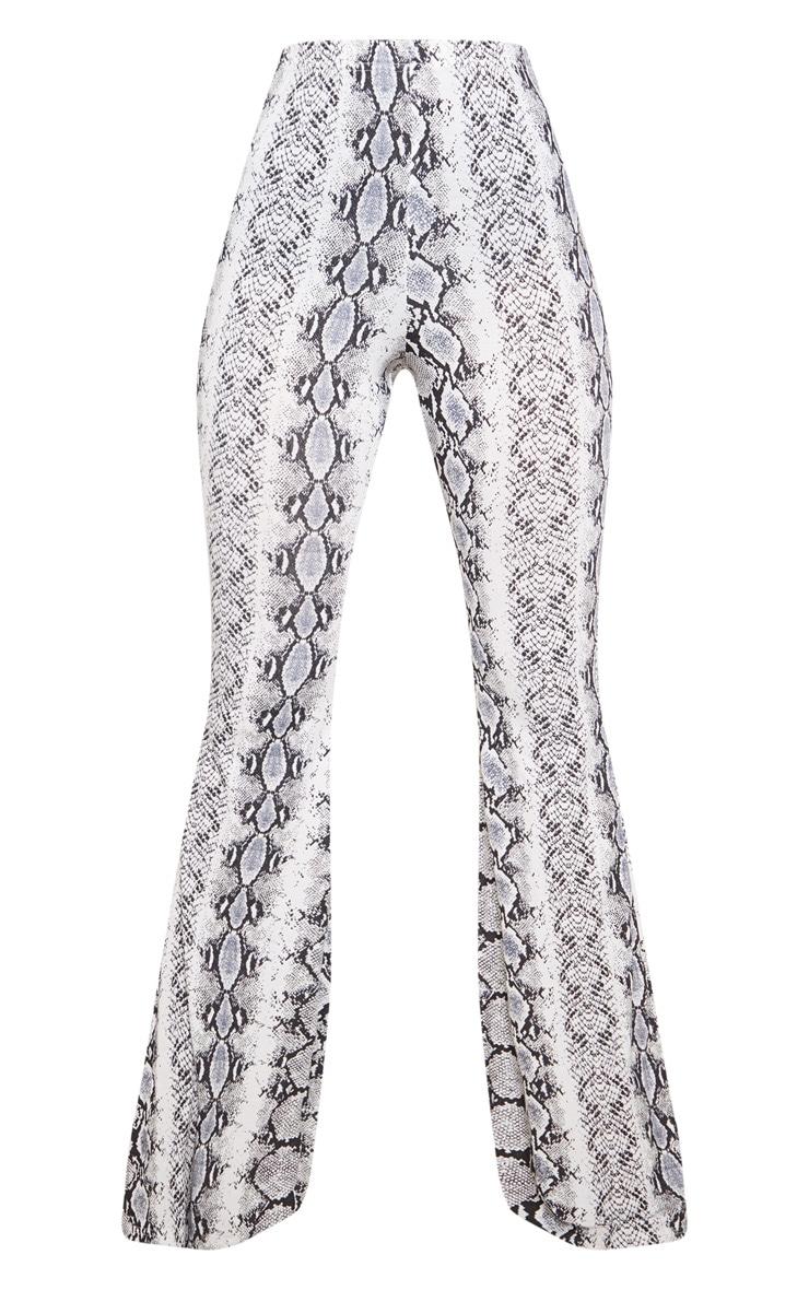 Black Snake Print Flare Leg Trouser 3