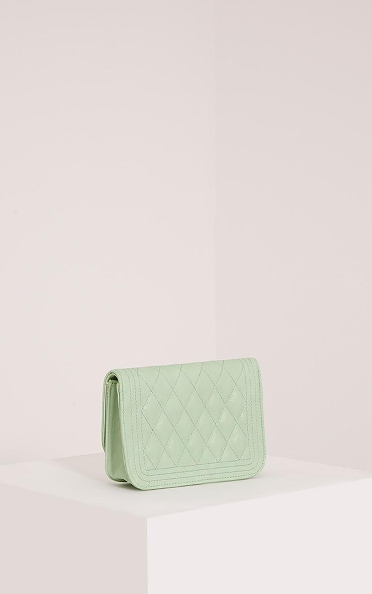 Emma Mint Quilted Chain Strap Shoulder Bag 5