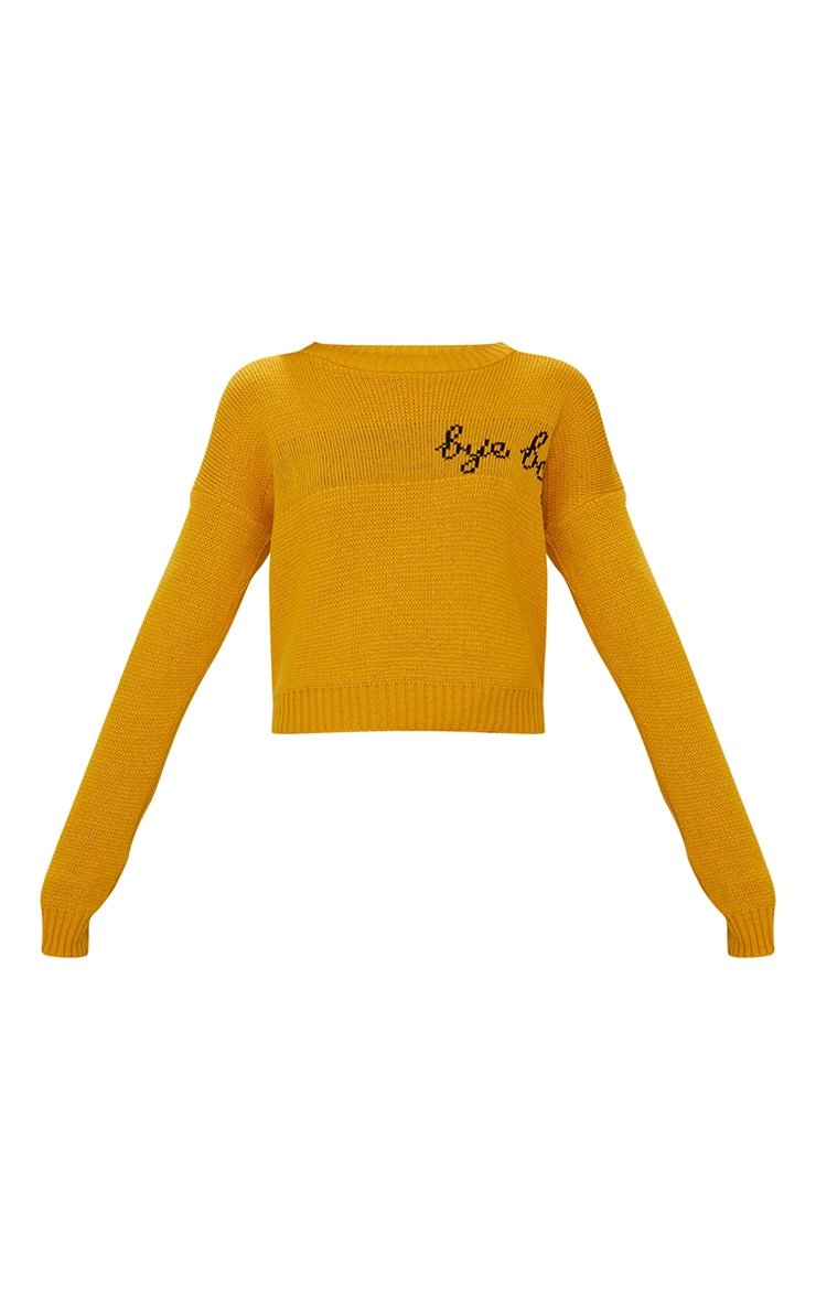 Mustard Bye Boy Slogan Jumper 3
