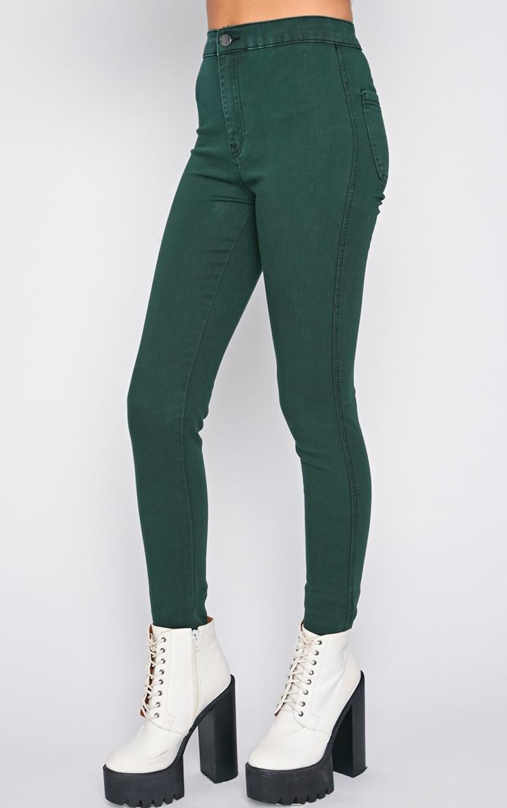 Dina Green High Waist Skinny Jean  4