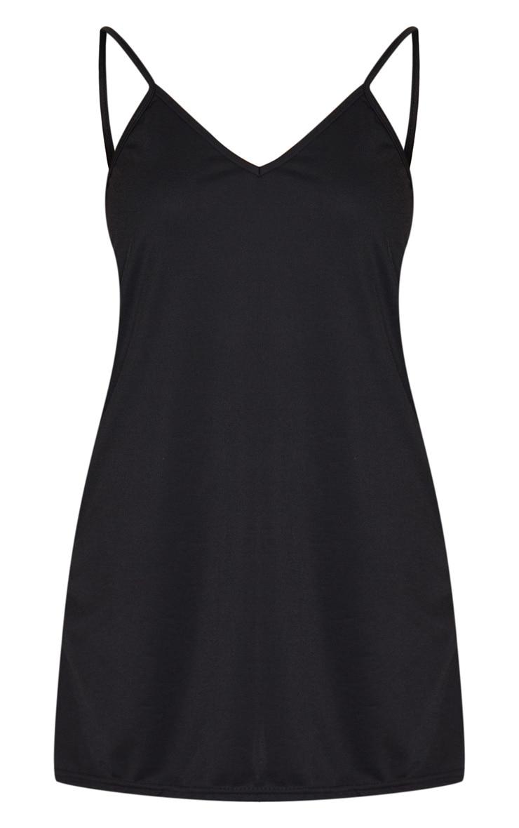 Black Strappy Detail Backless Cami Dress 5