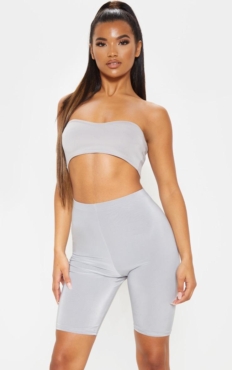 Short-legging  gris taille haute 5