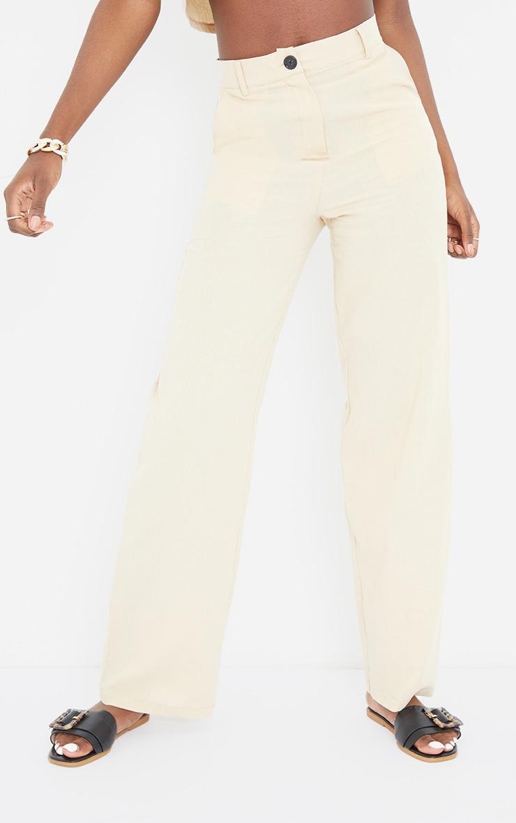 Tall Stone Linen Look Wide Leg Pants 2