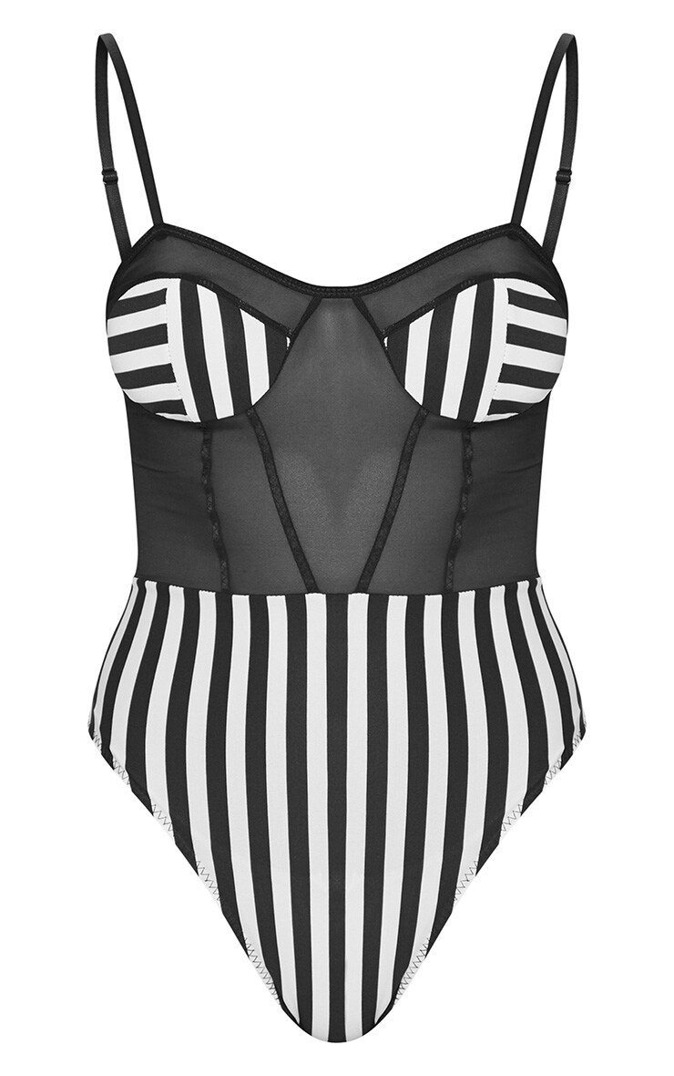 Mono Striped Mesh Body 3