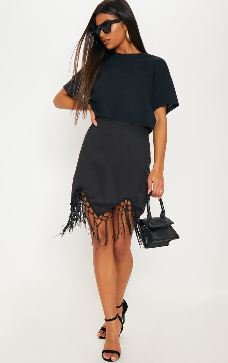 Black Tassel Hem Mini Skirt 5