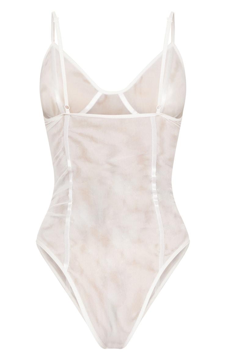 White Mesh Sheer Body 4