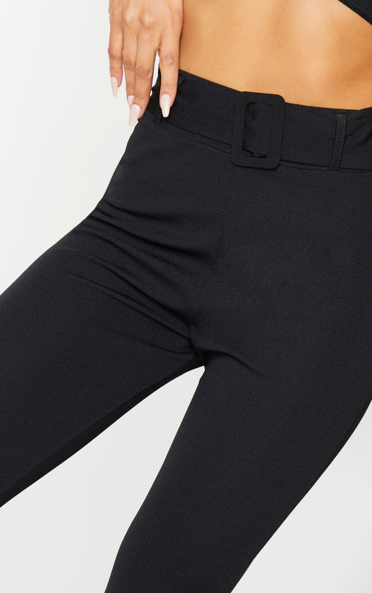 Black Belted Skinny Trousers 4