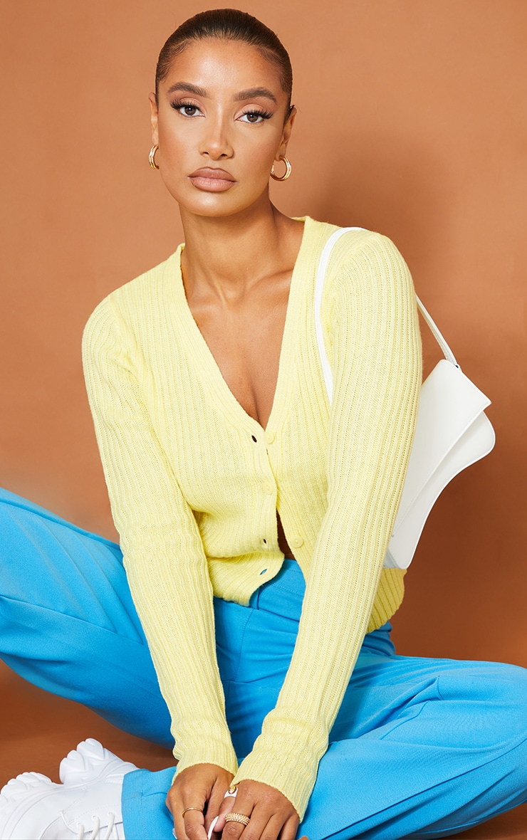 Yellow Button Front Cardigan 4