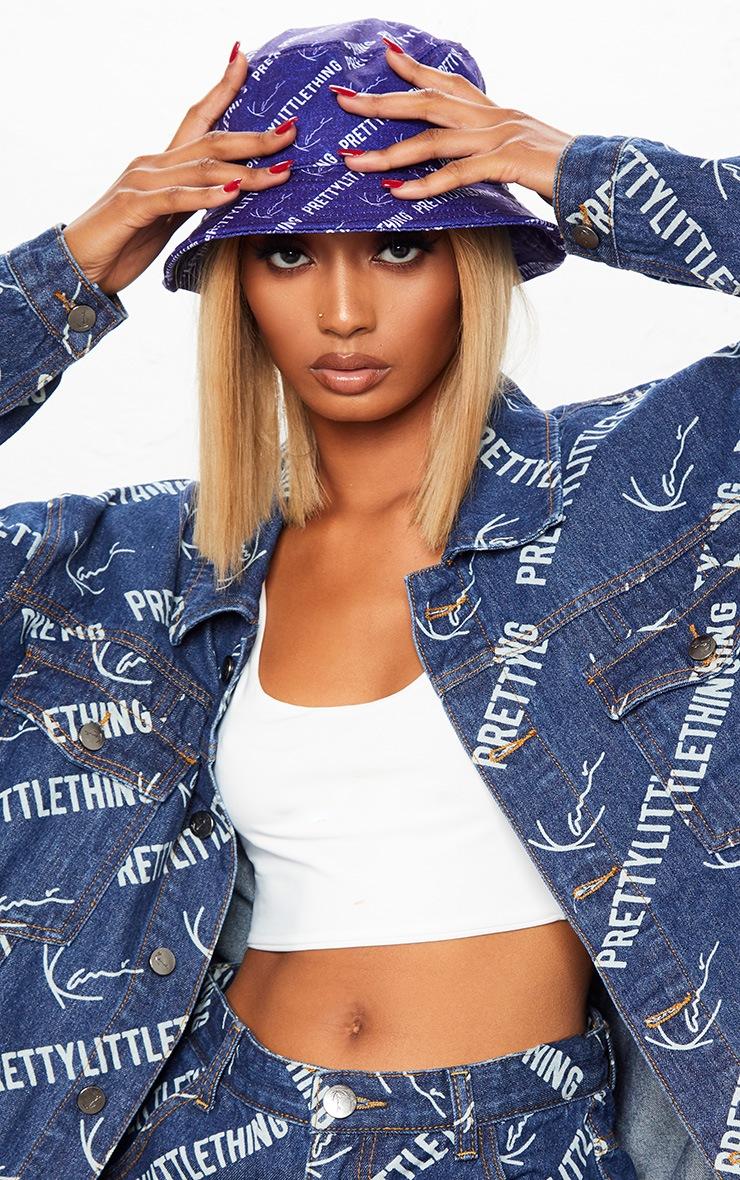 KARL KANI Blue Printed Oversized Denim Jacket 8