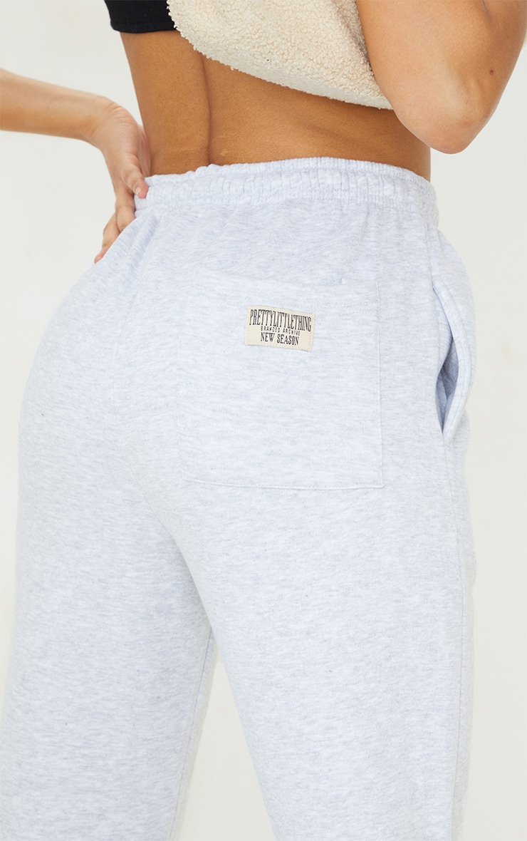 PRETTYLITTLETHING Ash Grey Bum Pocket Joggers 4