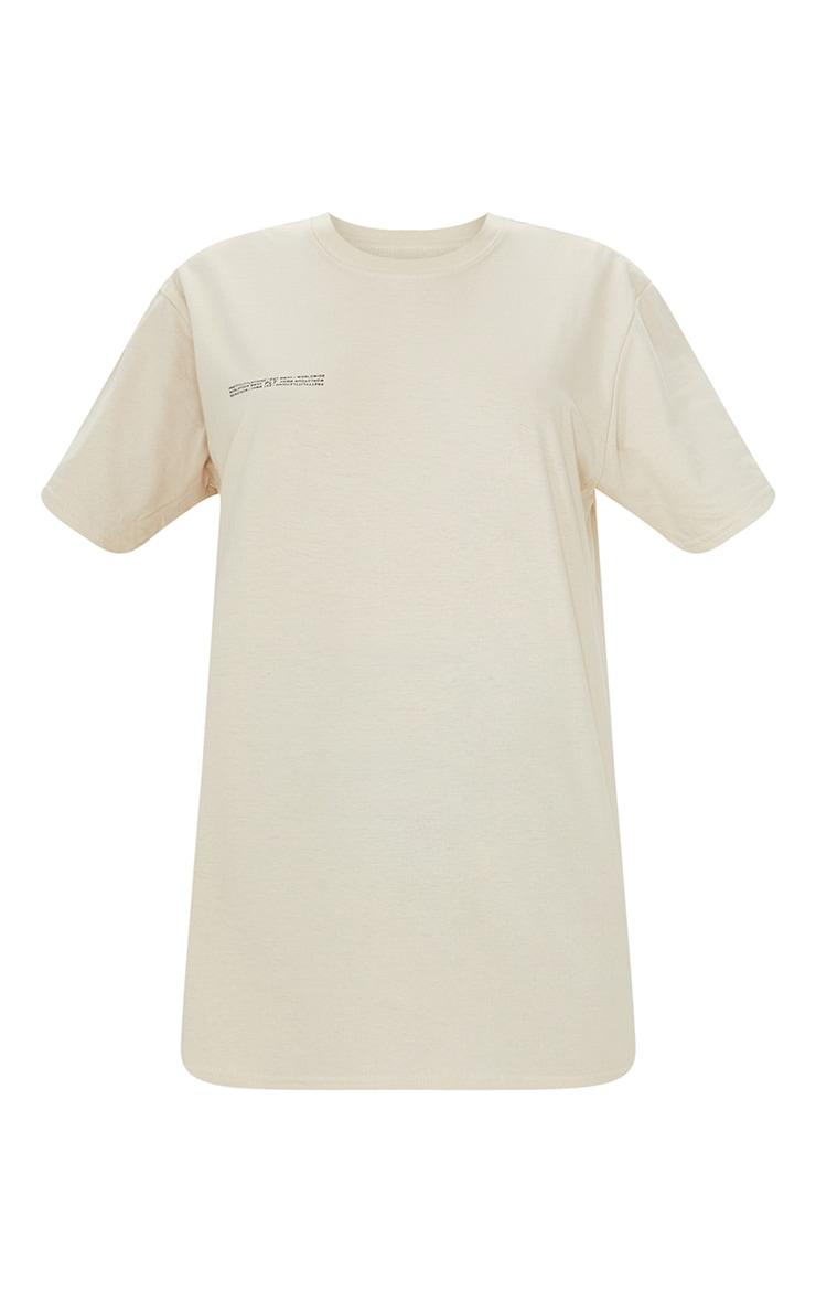 PRETTYLITTLETHING Stone Worldwide Small Print T Shirt 5