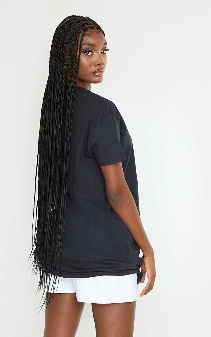 PRETTYLITTLETHING Tall Black Oversized T-Shirt 2