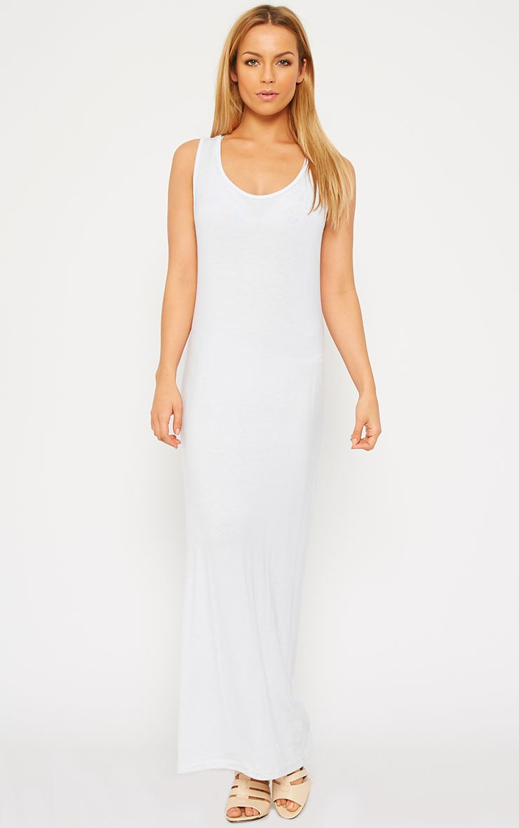 Basic White Jersey Maxi Dress 2