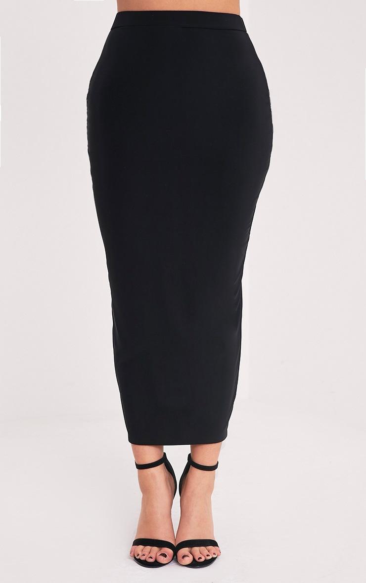 Shape Francisca Black Slinky Midi Skirt  2