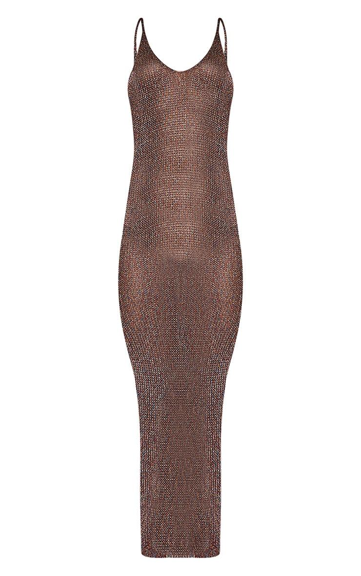 Denika robe maxi tricotée métallisée arc-en-ciel 3
