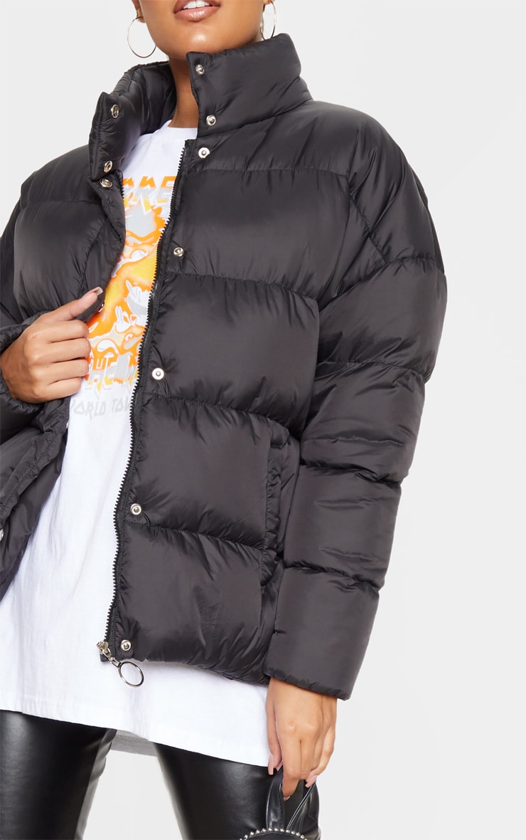Black Oversized Boyfriend Puffer 5