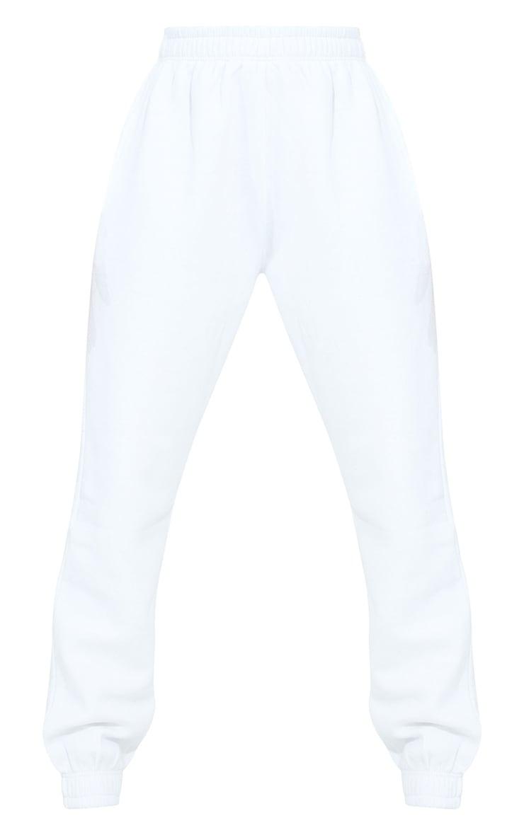 PRETTYLITTLETHING Tall White Diamante Jogger 5