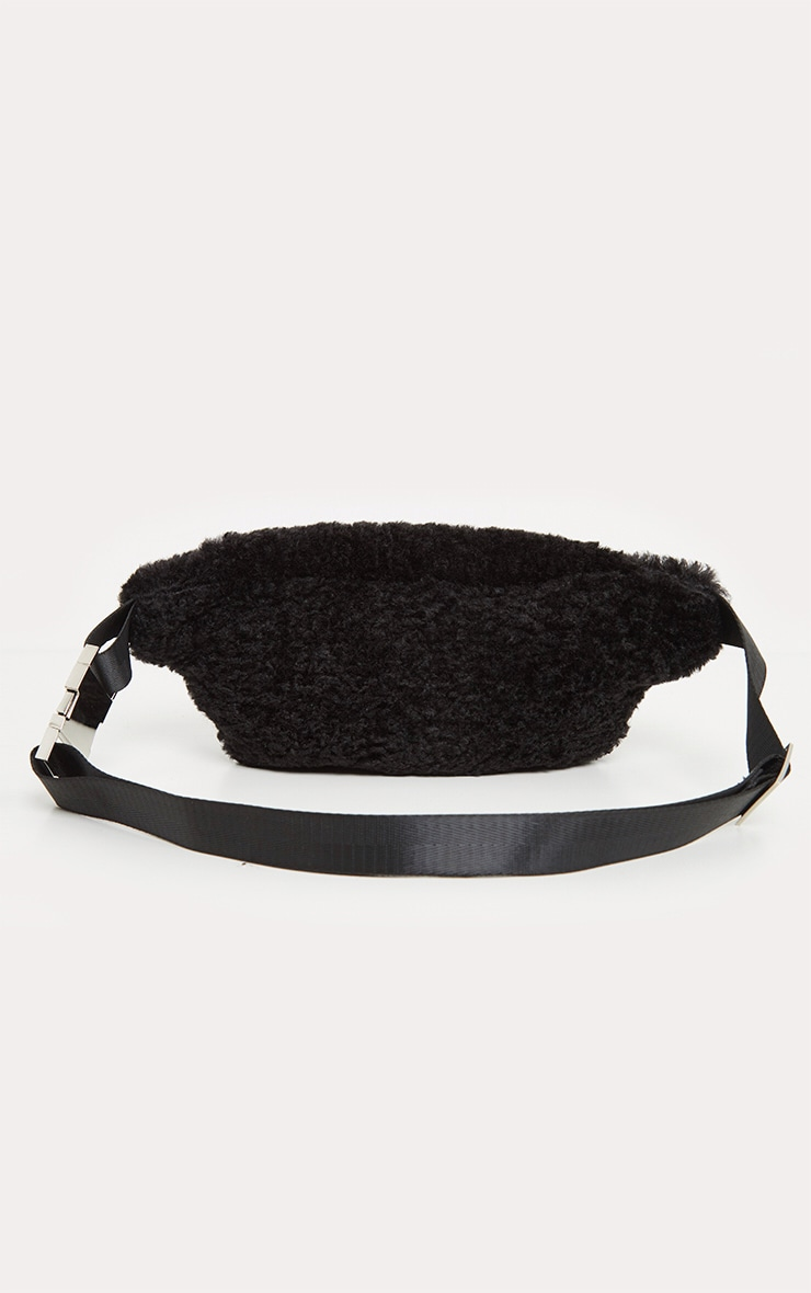 Black Fluffy Front Bag 3