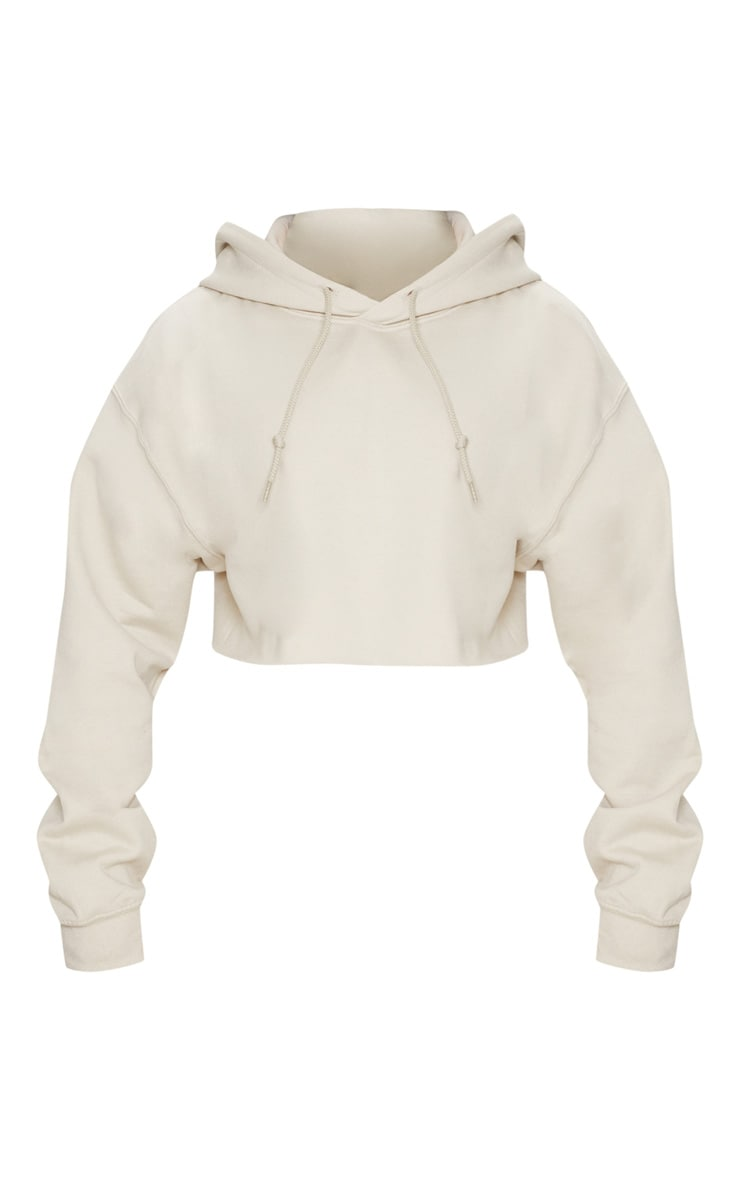 Sand Ultimate Oversized Crop Hoodie  3