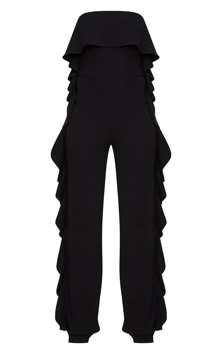 Black Bandeau Frill Side Jumpsuit 3