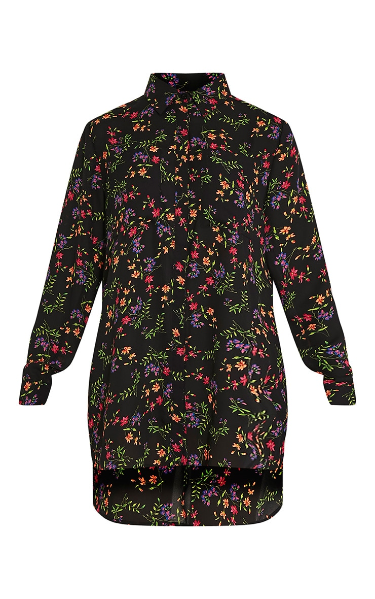 Tricia robe chemise vive imprimé à fleurs motif cachemire 3
