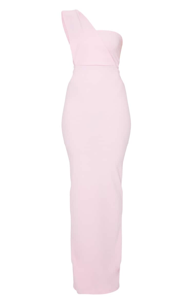 Baby Pink One Shoulder Maxi Dress 5