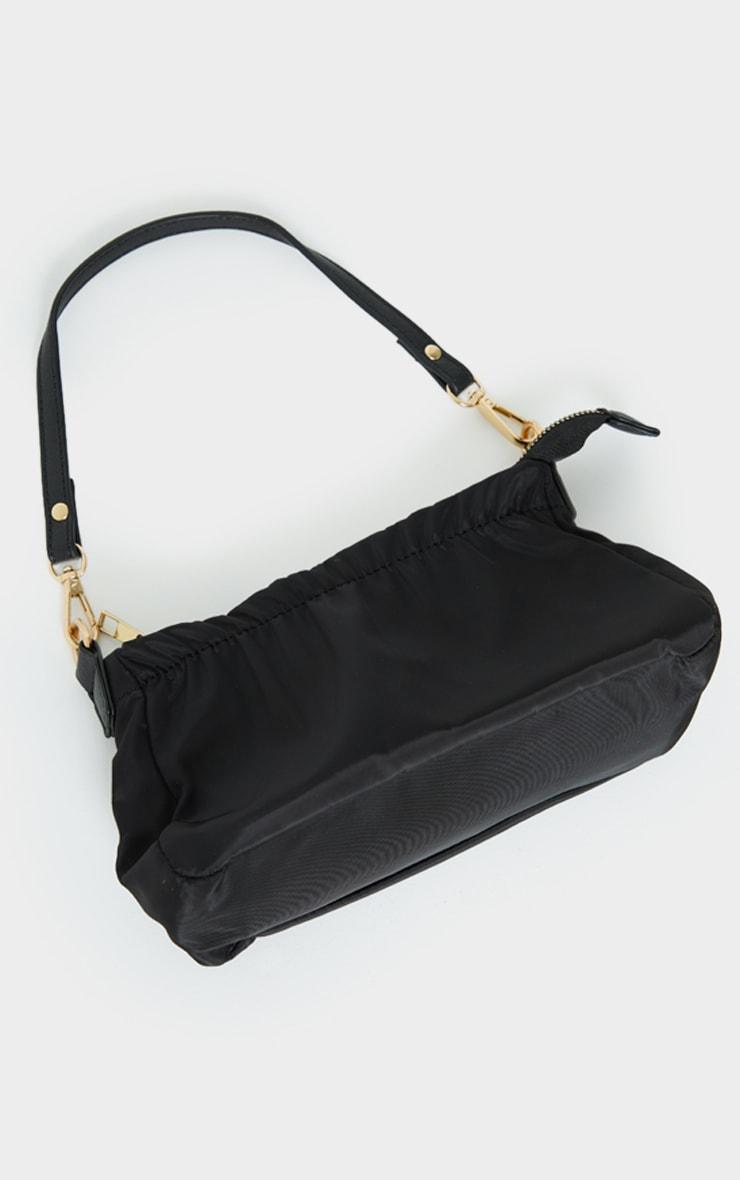 Black Mini Ruched Shoulder Bag 3