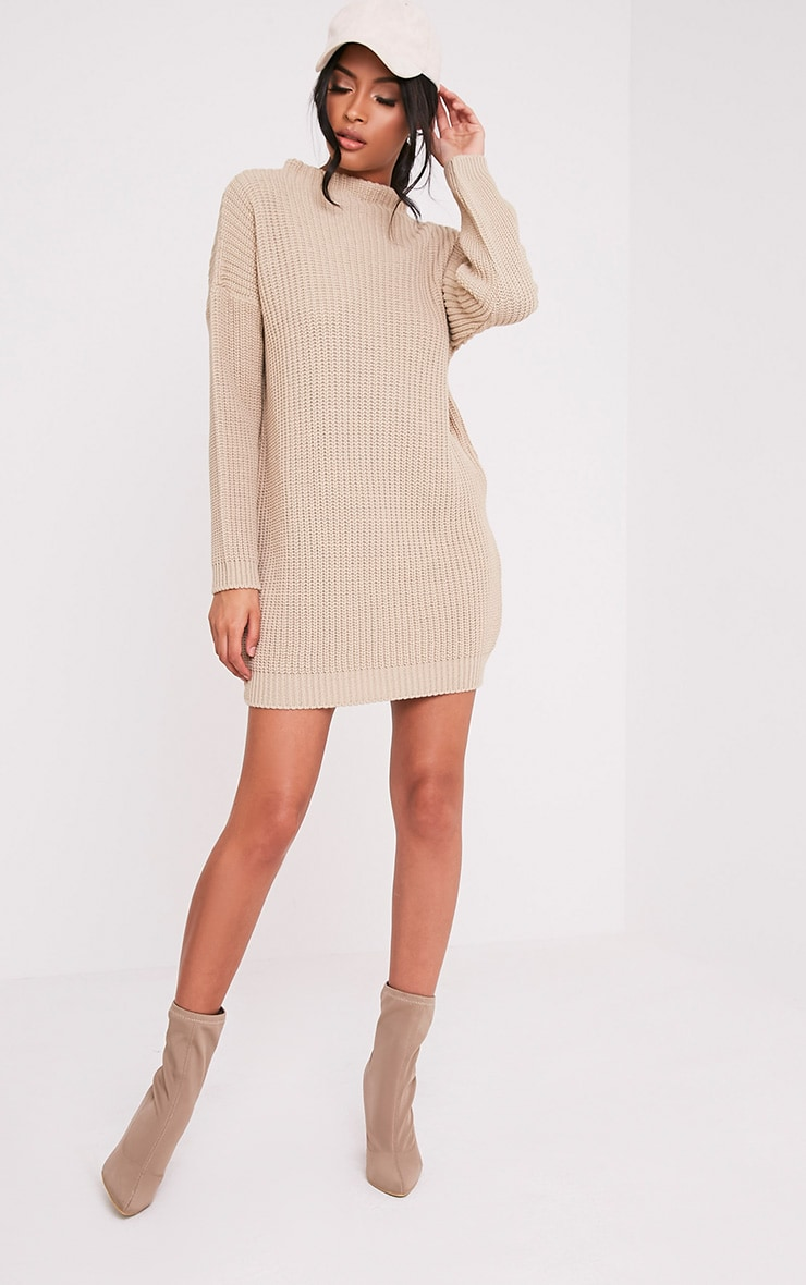 Iffy Stone Oversized Cable Knit Dress 6