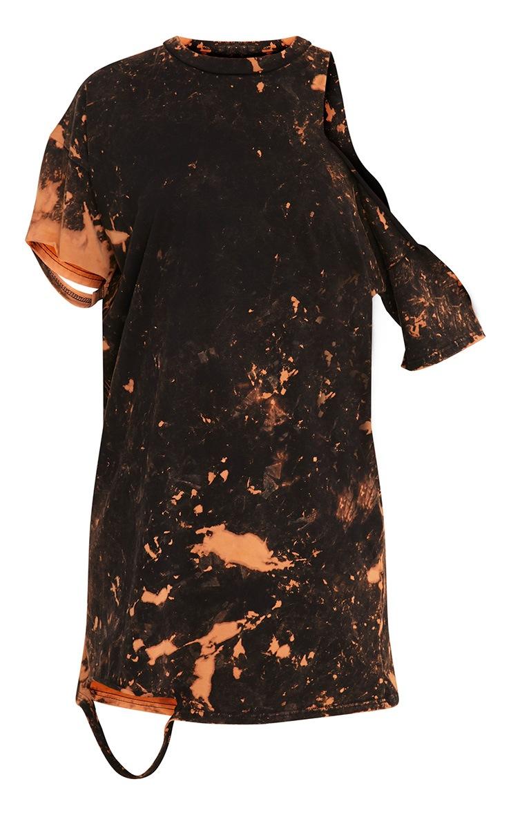 Ranar Black Tie Dye Cut Out T Shirt Dress  3