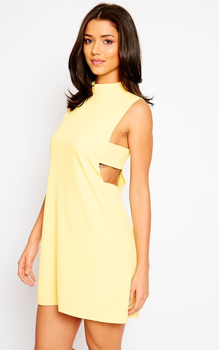 Rina Yellow Cut Out Tabard Dress 6