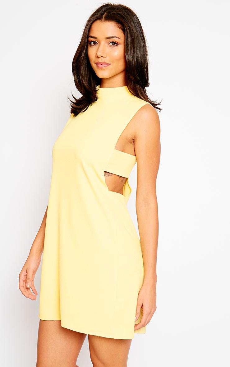 Rina Yellow Cut Out Tabard Dress 6