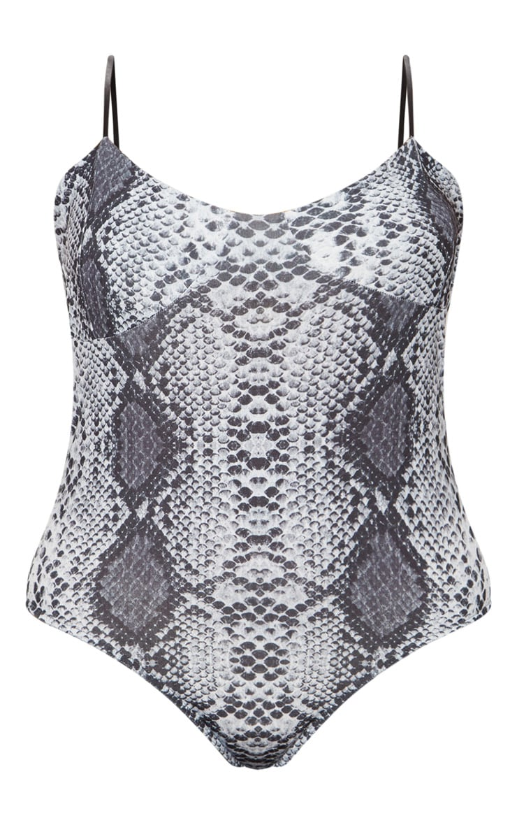 Plus Grey Snake Print Bodysuit 3